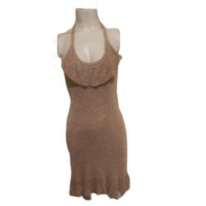 Frenchi Drape Ruffle Halter Dress